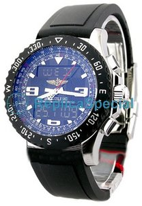 Breitling Airwolf A7836423/B911 Rubber Bralecet Automatic Blue Dial Round Watch