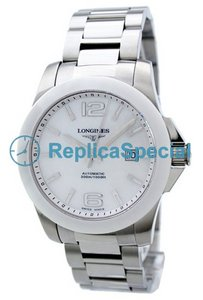 Longines Heritage L3.657.4.86.6 White Dial Round Ceramic Bezel Watch