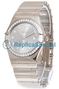 Omega Constellation 1105.36.00 Round Automatic White Gold Bralecet Watch