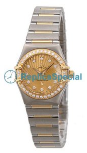 Omega Constellation Ladies 111.25.23.60.58.001 Champagne Diamond Dial Quartz Womens Watch