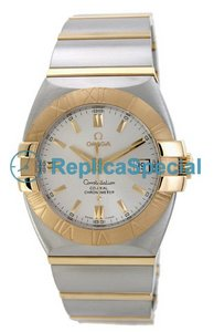 Omega Constellation 1203.30.00 Automatic Stainless Steel Gold Bralecet Silver Dial Watch