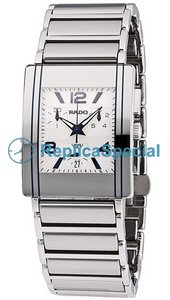 Rado Integral R20591102 Fixed Platinum Bezel White Dial Square Watch