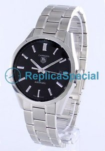 Tag Heuer Carrera WV211B.BA0787 Round Black Dial Stainless Steel Case Watch
