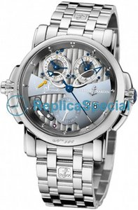 Ulysse Nardin Sonata Silicium 670-85-8 Stainless Steel Bralecet Mens Automatic Watch